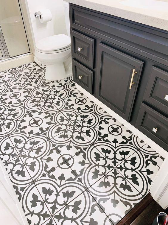 Pattern Tile Modern Black & White 2502 200X200 Matt ...