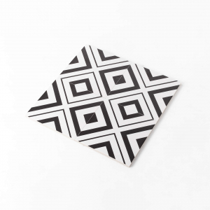 Pattern Tile Modern Black & White 2009 200X200 Matt