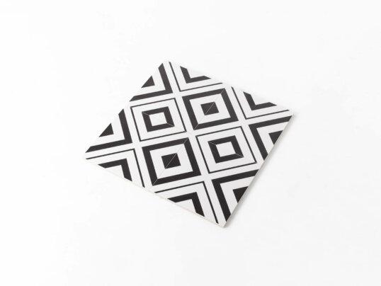 Pattern Tile Modern Black & White 2009 200X200 Matt