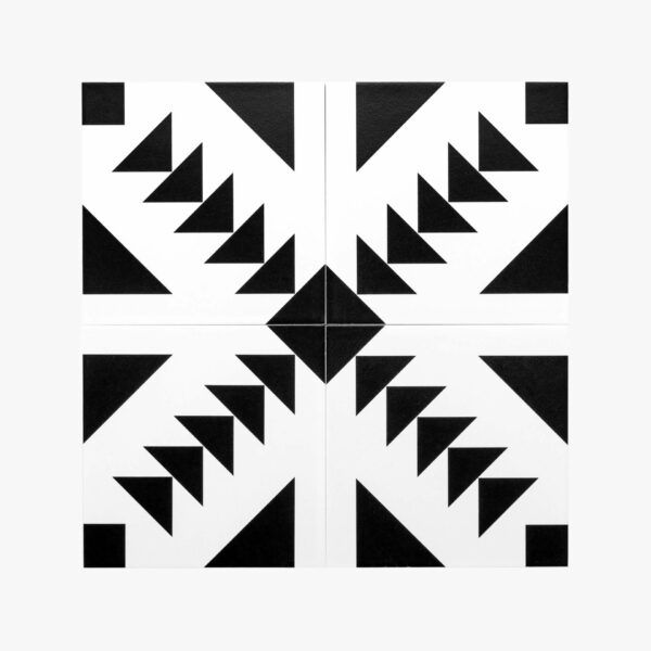 Pattern Tile Modern Black & White 21087_top