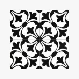 Pattern Tile Modern Black & White 2443_top