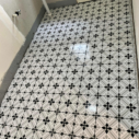 Bathroom Renovation with Pattern Tile Modern Black & White 2625