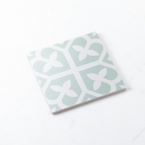 Pattern Tile Picasso Bloom Pale Green 200x200 Matt