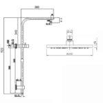 Pentro 10 Round Handheld Shower Station Brushed_size