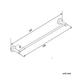 Pentro Brushed 300mm Towel Rail_size