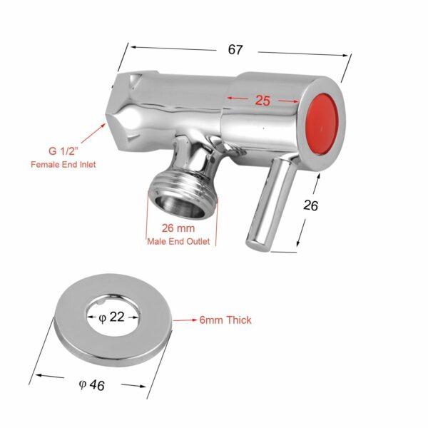 Pentro G 34 Wahsing Machine Taps Set-M Brushed_size