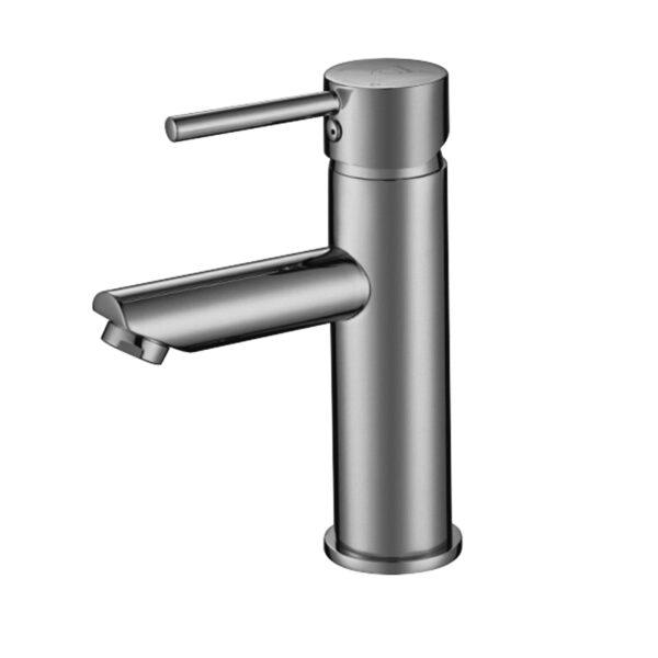 Pentro Round Basin Mixer Tap-M Brushed Nickel