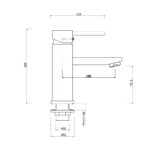 Pentro Round Basin Mixer Tap-M Brushed_size