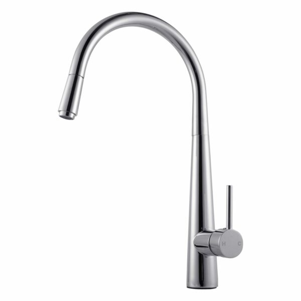 Pentro Round Pull Out Kitchen Mixer-M Brushed Nickel