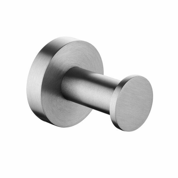 Pentro Round Robe Hook Brushed Nickel