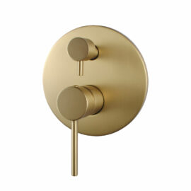Pentro Round Shower Mixer Brushed Yellow Gold