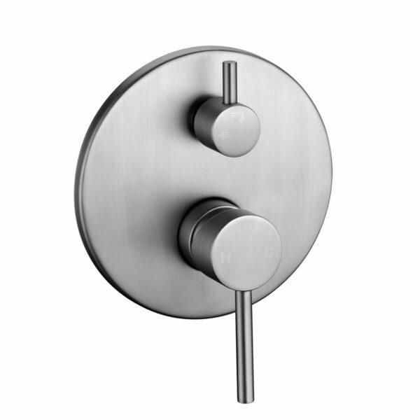 Pentro Round Shower Mixer-M Brushed Nickel