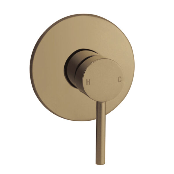 Pentro Round Shower Mixer Tap Brushed Yellow Gold