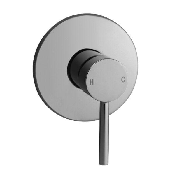 Pentro Round Shower Mixer Tap-M Brushed Nickel