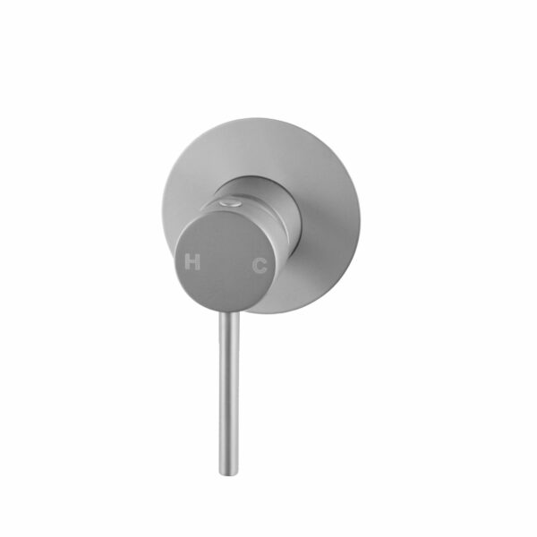 Pentro Round Shower Mixer Tap with 65nn Cover Plate-M Brushed Nickel