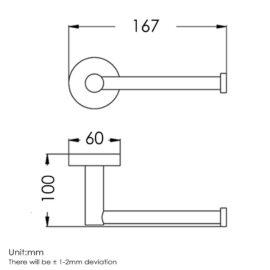 Pentro Toilet Roll Holder Brushed_plan