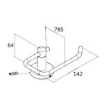 Pentro Toilet Roll Holder(Right) Brushed_size