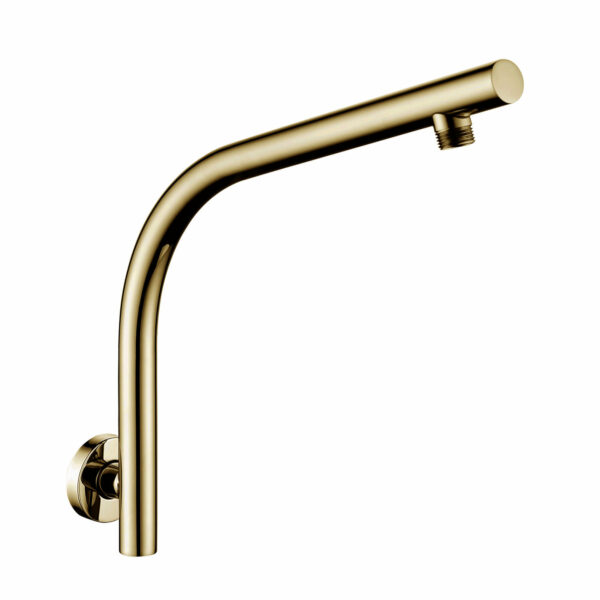 Pentro Wall Mounted Shower Arm Brushed Yellow Gold 1
