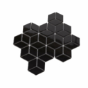 Porcelain DIAMOND CUBE 83x48 BLACK Gloss