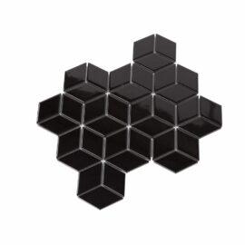 Porcelain DIAMOND CUBE 83x48 BLACK Gloss
