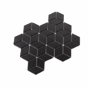 Porcelain DIAMOND CUBE 83x48 BLACK Matt
