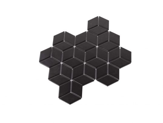Porcelain DIAMOND CUBE 83x48 BLACK Matt
