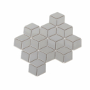Porcelain Mosaic Diamond Cube 83x48 Gloss Grey