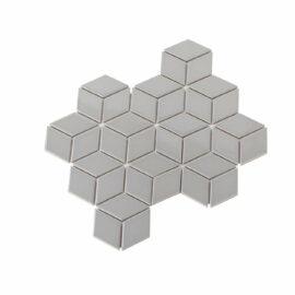 Porcelain Mosaic Diamond Cube 83x48 Gloss Grey