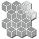 Porcelain DIAMOND CUBE 83x48 GREY Matt