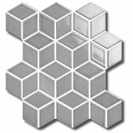 Porcelain DIAMOND CUBE 83x48 GREY Matt