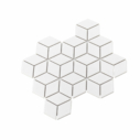 Porcelain DIAMOND CUBE 83x48 WHITE Matt