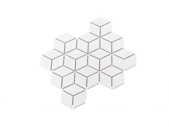Porcelain DIAMOND CUBE 83x48 WHITE Matt