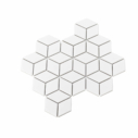 Porcelain Mosaic Diamond Cube 83x48 Gloss White