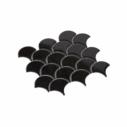 Porcelain Mosaic Fish Scale 75x75 Gloss Black