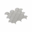 Porcelain Mosaic Fish Scale 75x75 Gloss Grey