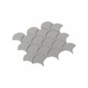 Porcelain Mosaic Fish Scale 75x75 Matt Grey