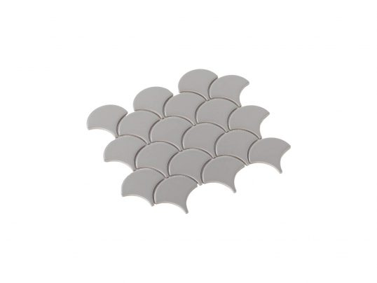 Porcelain Mosaic Fish Scale 75x75 Matt Grey