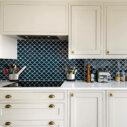 Porcelain Mosaic Fish Scale Marina Blue 73×73 Glossy