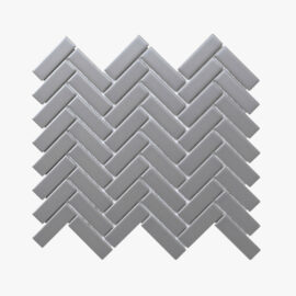 Porcelain Mosaic Herringbone 25×75 Matt Grey