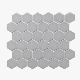 Porcelain Mosaic Hexagon 51x59 Gloss Grey
