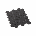 Porcelain Mosaic Hexagon 51x59 Gloss Black