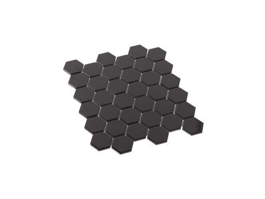 Porcelain Mosaic Hexagon 51x59 Gloss Black
