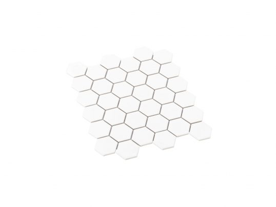 Porcelain Mosaic Hexagon 51x59 Gloss White