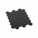 Porcelain Mosaic Hexagon 51x59 Matt Black