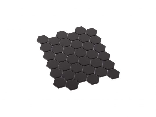 Porcelain Mosaic Hexagon 51x59 Matt Black