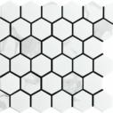 Porcelain Mosaic Hexagon 51x59 Matt Carrara