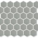Porcelain Mosaic Hexagon 51x59 Matt Grey