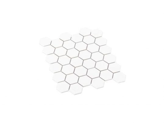 Porcelain Mosaic Hexagon 51x59 Matt White