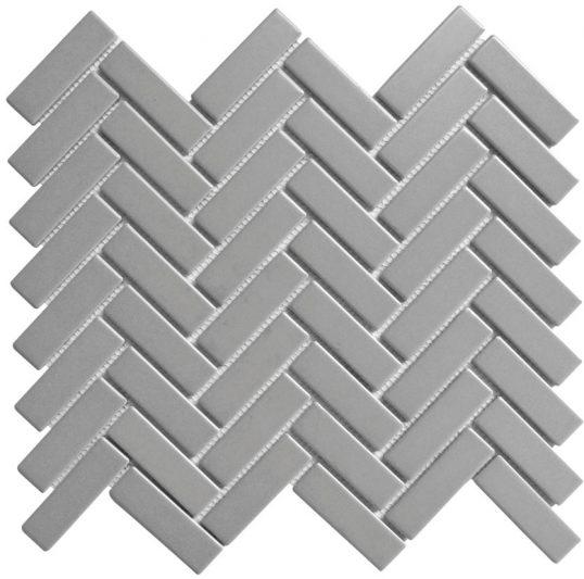Porcelain Mosaic Mini Brick 25x75 Matt Grey
