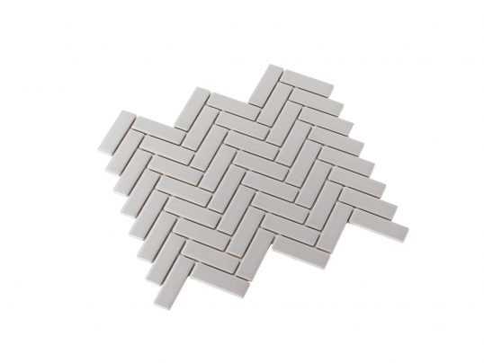 Porcelain Mosaic Mini Brick 25×75 Matt Grey